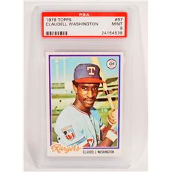 1978 TOPPS CLAUDELL WASHINGTON #67 BASEBALL CARD - PSA MINT 9