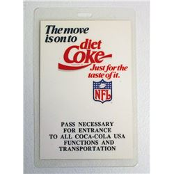VINTAGE 1990 SUPERBOWL XXIV COCA COLA LAMINATED BACKSTAGE PASS