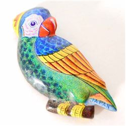 VINTAGE TIN LITHO POLL PARROT SHOES BROOCHE