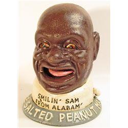 BLACK AMERICANA CAST IRON SMILIN SAM MECHANICAL BANK