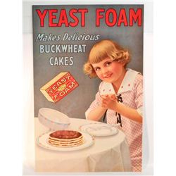 "YEAST FOAM ADVERTISING SIGN - 11""X17"""