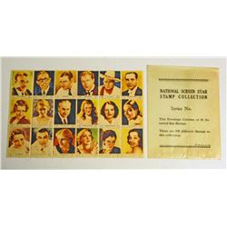 VINTAGE FULL PACK OF 1932 SCREEN STARS STAMPS - SERIES 3