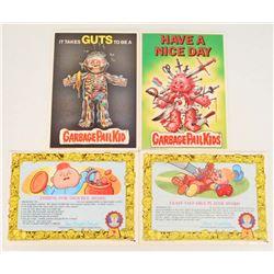 LOT OF 4 VINTAGE 1986 GARBAGE PAIL KIDS CERTIFICATES