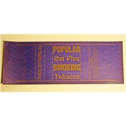 VINTAGE POPULAR CUT PLUG TOBACCO WRAPPER