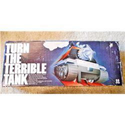 VINTAGE TOMY TURN THE TERRIBLE TANK GAME IN ORIG. BOX