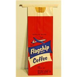 VINTAGE FLAGSHIP COFFEE ADVERTISING BAG