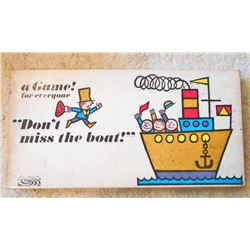 VINTAGE PB DONT MISS THE BOAT BOARD GAME IN ORIG. BOX