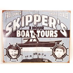 SKIPPERS 3 HOUR BOAT TOURS GILLIGAN METALSIGN - 12.5X16