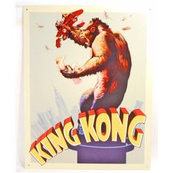 KING KONG METAL ADVERTISING SIGN - 12.5X16
