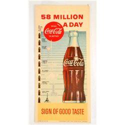 VINTAGE COCA COLA ADVERTISING INK BLOTTER - 58 MILLION A DAY