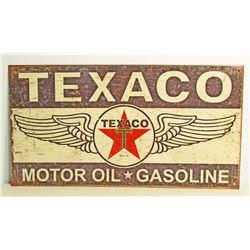TEXACO METAL ADVERTISING SIGN - 8.5X16