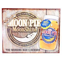 MOON PIE MOONSHINE METAL ADVERTISING SIGN - 12.5X16