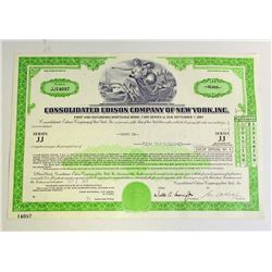 VINTAGE CONSOLIDATED EDISON CO OF NY INC STOCK CERTIFICATE