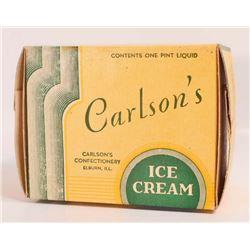 1934 CARLSONS ICE CREAM ADVERTISING BOX