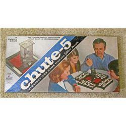 VINTAGE MB CHUTE-5 BOARD GAME IN ORIG. BOX