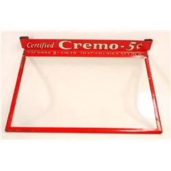 VINTAGE CREMO 5 CENT CIGAR ADVERTISING DISPLAY LID