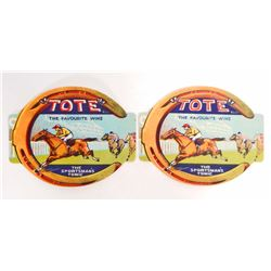 LOT OF 2 TOTE SPORTSMANS TONIC LABELS