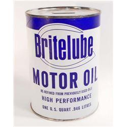 BRITELUBE MOTOR OIL ADVERTISING CAN BANK