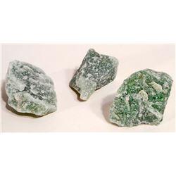 LOT OF 367.0 CTS OF ROUGH GREEN QUARTZ