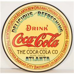 "COCA COLA METAL ADVERTISING SIGN - 12"""
