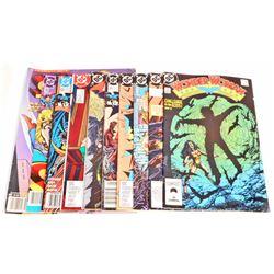 LOT OF 10 VINTAGE COMIC BOOKS - INCL. BATMAN AND WONDER WOMAN