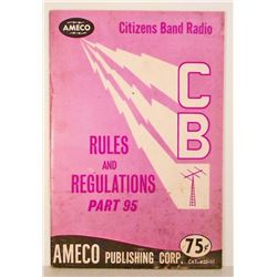 VINTAGE 1971 AMECO CITIZENS BAND RADIO RULES AND REGULATIONS BOOK