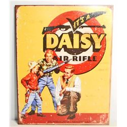DAISY AIR RIFLE METAL ADVERTISING SIGN - 12.5X16