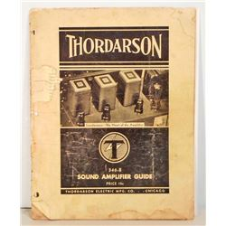VINTAGE 1937 THORDARSON SOUND AMPLIFIER GUIDE