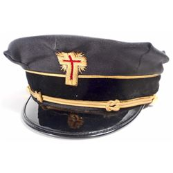 VINTAGE MASONIC FREEMASON KNIGHTS OF TEMPLAR HAT CAP
