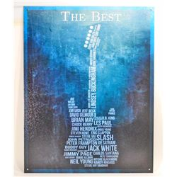 BEST GUITARISTS EVER METAL SIGN - 12.5X16