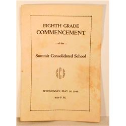1949 8TH GRADE COMMENCEMENT SCHOOL PROGRAM