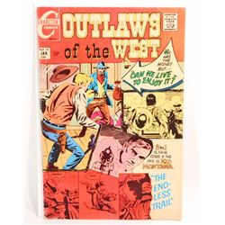 1970 OUTLAWS OF THE WEST NO. 79 COMIC BOOK - 15 CENT COVER
