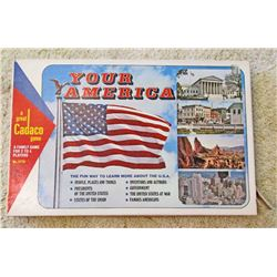 VINTAGE YOUR AMERICA BOARD GAME IN ORIG. BOX