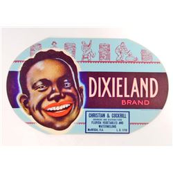 VINTAGE BLACK AMERICANA DIXIELAND WATERMELON CRATE LABEL