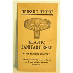 VINTAGE TRU-FIT ELEASTIC SANITARY BELT ADVERTISING ENVELOPE