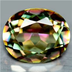 3.45 CT AAA! NATURAL! AZOTIC MULTICOLOR MYSTIC AFRICA QUARTZ OVAL
