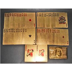 DECK OF 24K GOLD HUNDRED DOLLAR BILL PLAYING CARDS