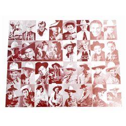 LOT OF 8 VINTAGE BROWN WESTERN COWBOY MUTOSCOPE ARCADE CARDS