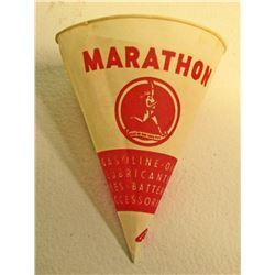 VINTAGE MARATHON GASOLINE CUP W/ RUNNING MAN LOGO