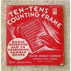 VINTAGE TEN-TENS COUNTING FRAME IN ORIG. BOX