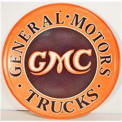 """GMC GENERAL MOTORS TRUCKS METAL ADVERTISING SIGN - 12"""""""