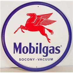 """MOBILGAS METAL ADVERTISING SIGN - 12"""""""