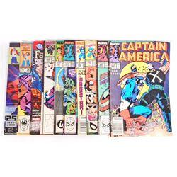 LOT OF 10 VINTAGE COMIC BOOKS = INCL. TRANSFORMERS, FANTASTIC 4, CAPT. AMERICA