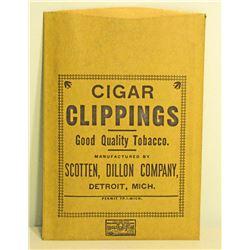 VINTAGE SCOTTEN DILLON CIGAR CLIPPINGS TOBACCO BAG