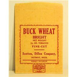 VINTAGE BUCK WHEAT BRIGHT TOBACCO BAG