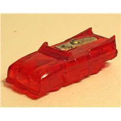 VINTAGE FIGURAL HARD PLASTIC CAR PENCIL SHARPENER
