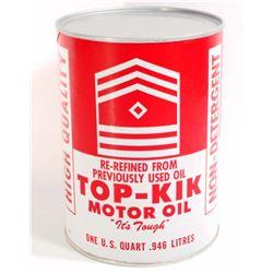 TOP-KIK MOTOR OIL ADVERTISING CAN