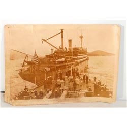 VINTAGE PHOTO OF THE USS HENDERSON SHIP - 7X5