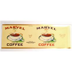 VINTAGE MARVEL COFFEE CAN ADVERTISING LABEL