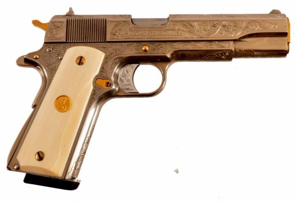 Engraved Colt 1911 Government Model 9MM Pistol